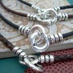 Leather Necklace, Infinity Necklace..