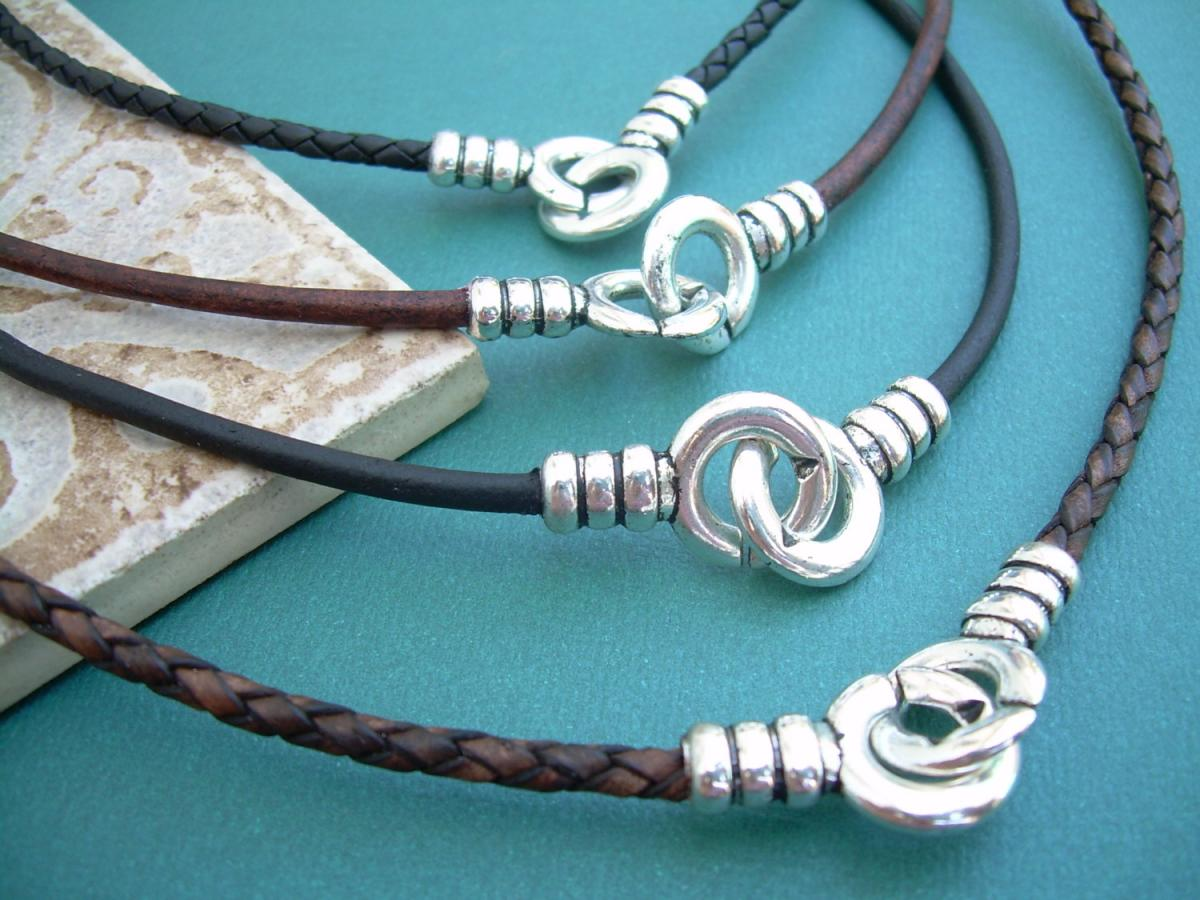 Leather Necklace, Infinity Necklace, Leather Infinity Necklace, Mens, Womens, Unisex, Mens Necklace, Womens Necklace